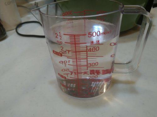外鍋用の水です